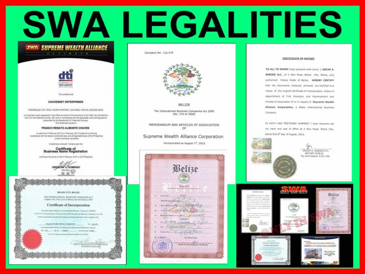 SWA Legalities